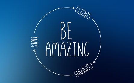 Be Amazing - the slogan around the Pro Pacific DKI office