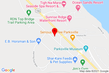 Map of the Pro Pacific DKI Parksville office